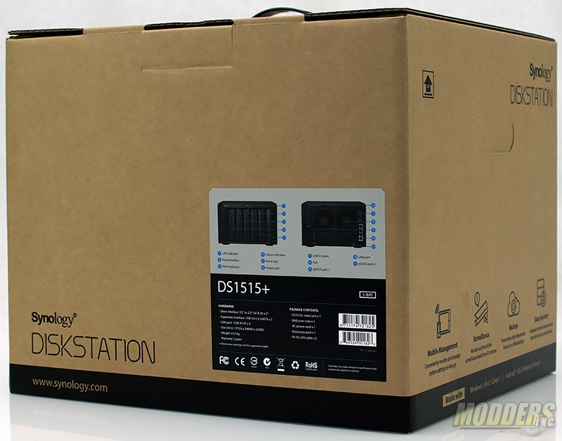 Synology DiskStation DS1515+ Network Attached Storage Review DSC 7546