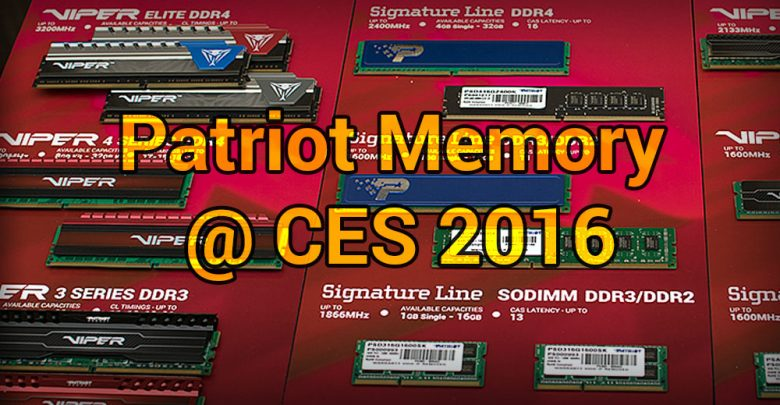 Photo of Patriot Memory @ CES 2016: Gaming and Storage