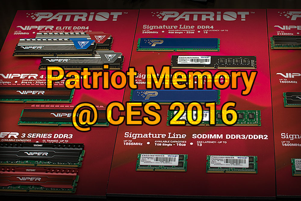 Patriot Memory @ CES 2016: Gaming and Storage patriotthumb