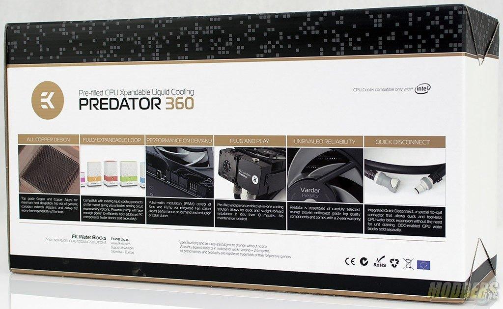 EKWB EK-XLC Predator 360 All-In-One CPU Liquid Cooling Unit Review AIO, all in one, EK, EKWB, overclocking, vardar, watercooling