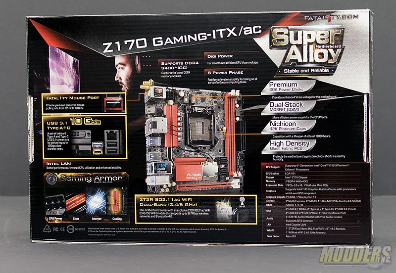 ASRock Fatal1ty Z170 Gaming-ITX/AC Motherboard Review ASRock, Gaming, itx, m.2, overclock, usb 3.1