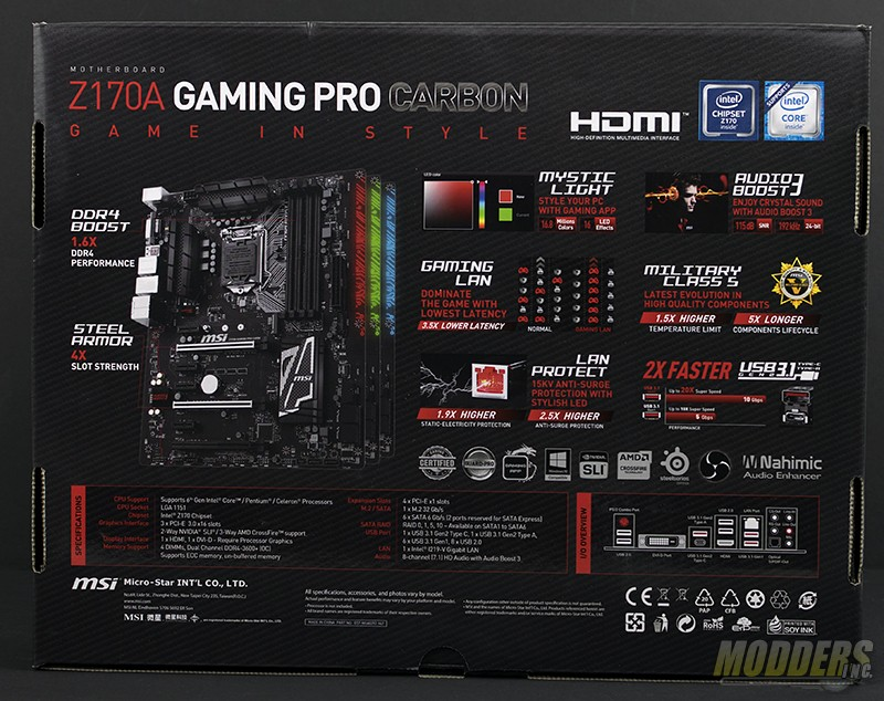 MSI Z170A Gaming Pro Carbon Motherboard Review Carbon, ddr4, Gaming, m.2, overclocking, skylake, watercooling, z170 2