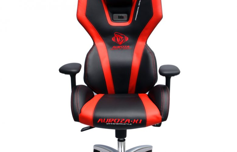 AUROZA XI GLOW PC GAMING CHAIR (BLACK/RED)
