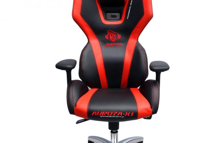 AUROZA XI GLOW PC GAMING CHAIR (BLACK/RED)