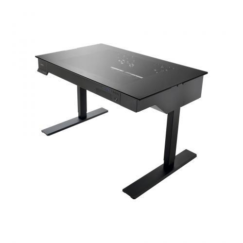Lian Li's Computer Desk Line Now has Standing Desk DK-04 aluminum, Case, desk, dk-04, Lian Li, standing 1