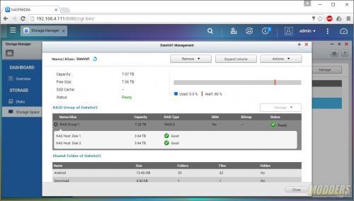 QNAP TAS-268 Dual Bay NAS review android, NAS, QNAP, RAID 0, RAID 1 2