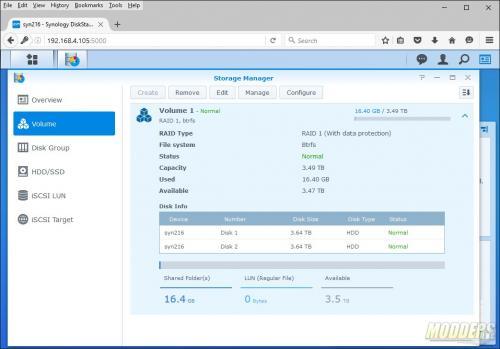 Synology DiskStation DS216+ NAS Review Intel, NAS, networking, RAID 0, RAID 1, Storage, Synology 31