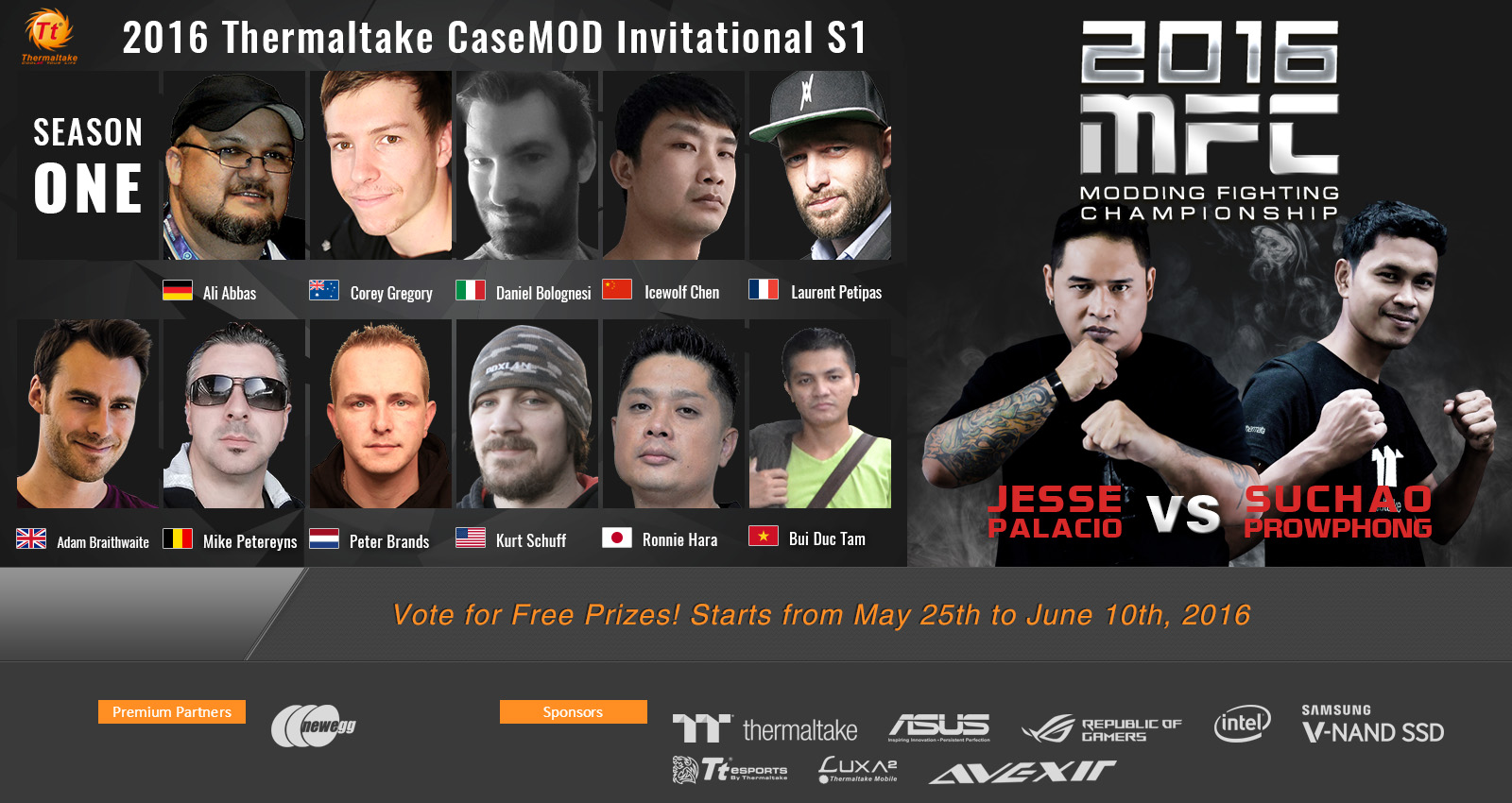 2016 Thermaltake CaseMOD Invitational Season 1 Voting Event Now Live!