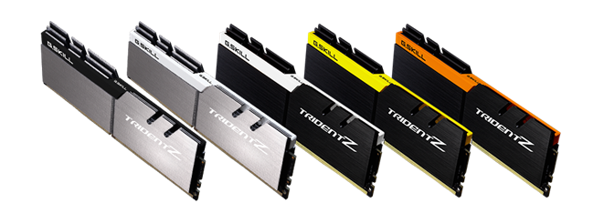 G.SKILL Introduces 5 New Color Schemes to Trident Z Series DDR4 Memory
