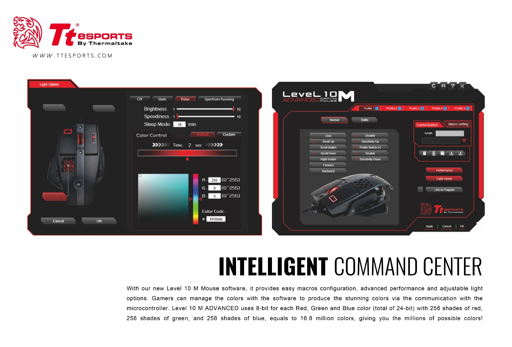 Tt eSPORTS Level 10 M Advanced Mouse Launched Gaming, Level 10 M, mouse, Thermaltake, Tt eSports