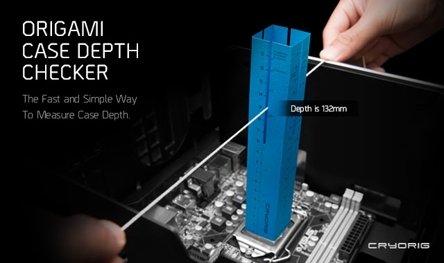 Photo of CRYORIG Origami Case Depth Compatibility Checker Now Available