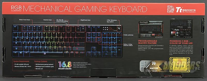 Thermaltake Poseidon Z RGB Mechanical Gaming Keyboard Review Keyboard, led, mechanical, rgb, USB 2