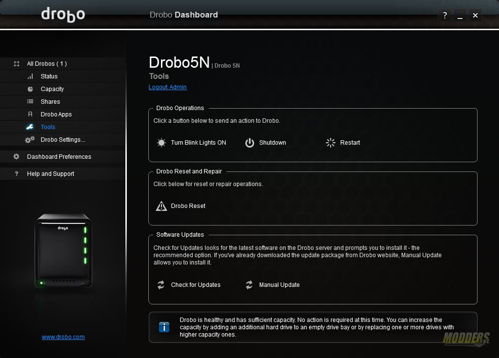 Drobo 5N review: Protection with BeyondRAID BeyondRAID, Drobo 5N, NAS, Storage 9