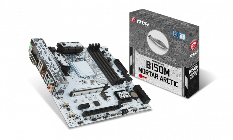 Photo of MSI B150M Mortar Arctic and B150M Bazooka Motherboards Now Available