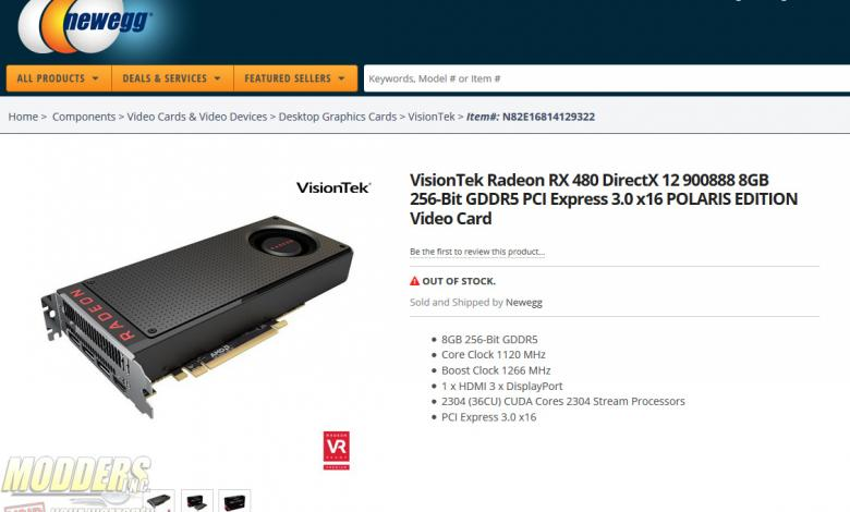 Photo of AMD Radeon RX 480 Spotted in NewEgg , Launching June 29