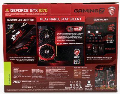 GEFORCE® GTX 1070 GAMING Z 8G