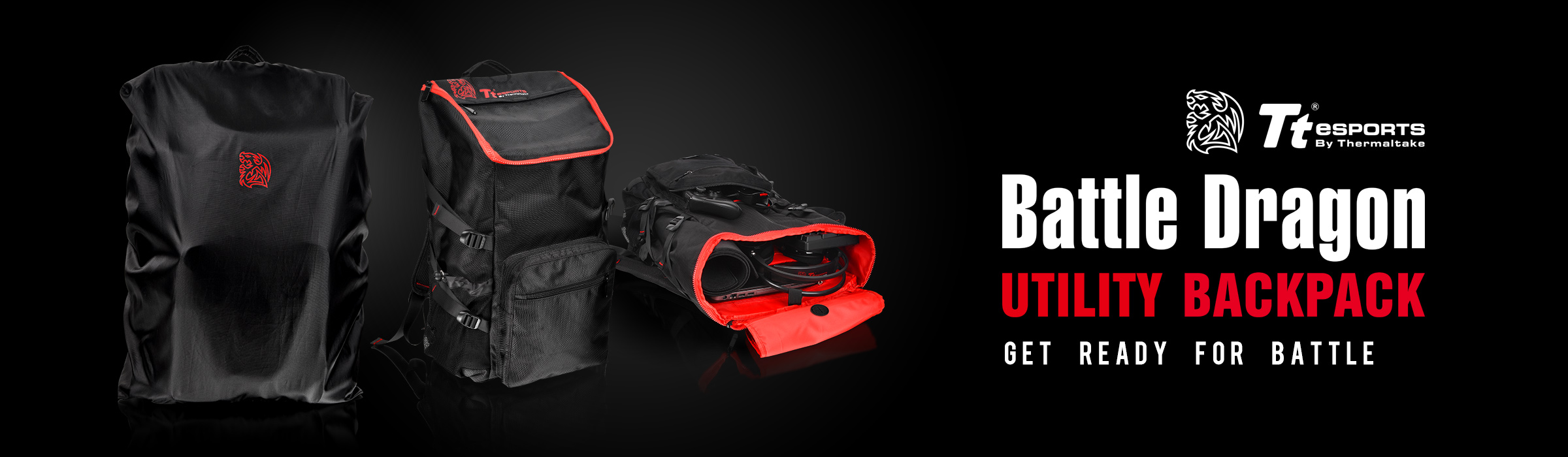 Tt eSPORTS BATTLE DRAGON UTILITY BACKPACK_ Banner