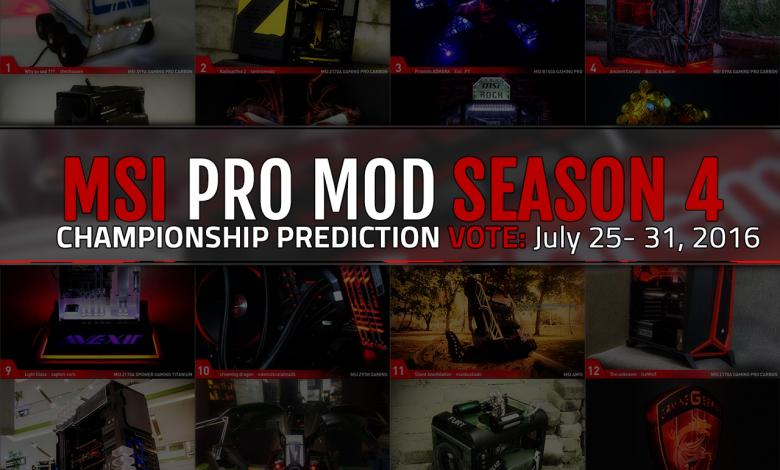 Photo of MSI PRO MOD Season 4 Championship Prediction Voting Begins
