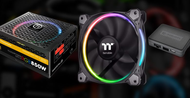 Photo of Thermaltake Doubles Down on RGB LED with new Riing Fans and DPS G PSU