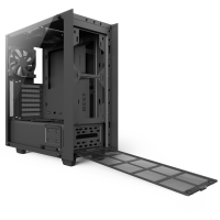 NZXT Adds Tempered Glass Side-Panel to S340 Mid-Tower Case Case, NZXT, s340, sidepanel, tempered glass 3
