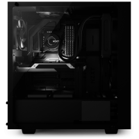 NZXT Adds Tempered Glass Side-Panel to S340 Mid-Tower Case Case, NZXT, s340, sidepanel, tempered glass 2
