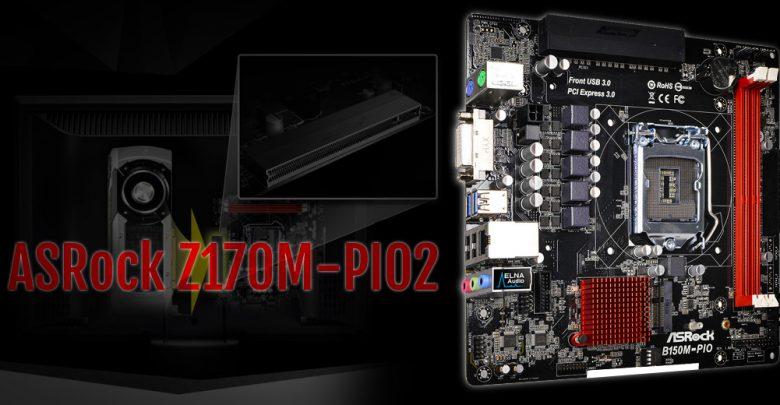 Photo of New ASRock Z170M-PIO2 Motherboard Has Angled PCI-E x16 Slot