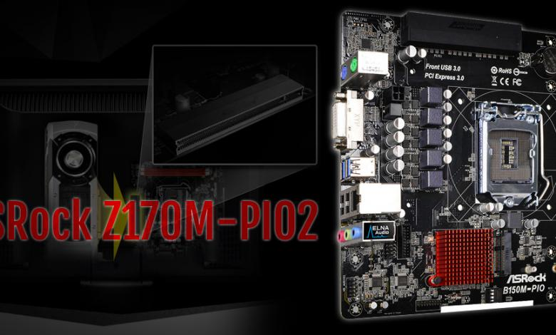 Photo of New ASRock Z170M-PIO2 Motherboard Has Angled PCI-E x16 Slot
