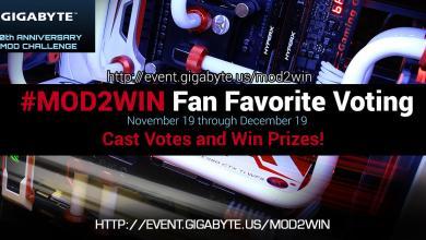 Gigabyte #Mod2Win Fan Favorite Voting Begins Gigabyte, mod2win, voting