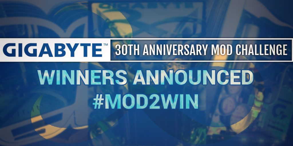 GIGABYTE Mod2Win Winners Announced