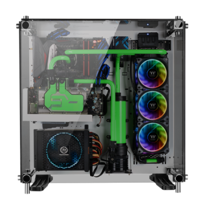 More RGB from Thermaltake as Pacific W4 CPU Block and Riing Plus 12 Fans Launched cpu block, Fans, pacific w4, radiator, rgb, Thermaltake, tt premium, watercooling