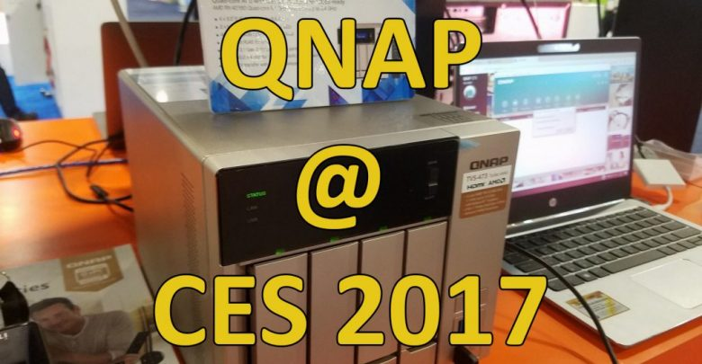 Photo of QNAP NAS DEVICES at CES 2017