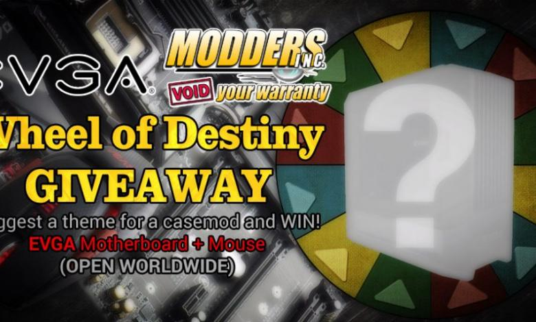 Photo of Wheel of Destiny Case Mods #1 Giveaway by EVGA and Modders-Inc