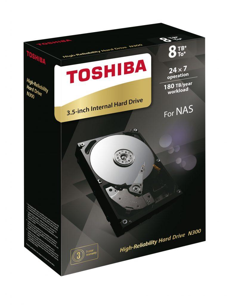 Toshiba Increases N300 NAS HDD Capacity to 8TB