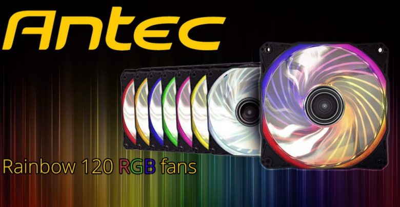 Photo of Antec Joins the RGB Bandwagon with New Rainbow 120 Fans