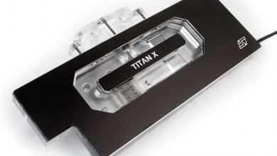 The Komodo™ NV-LE GTX TITAN X full cover waterblock