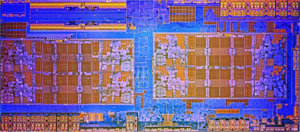 AMD Ryzen 7 1800X CPU dieshot