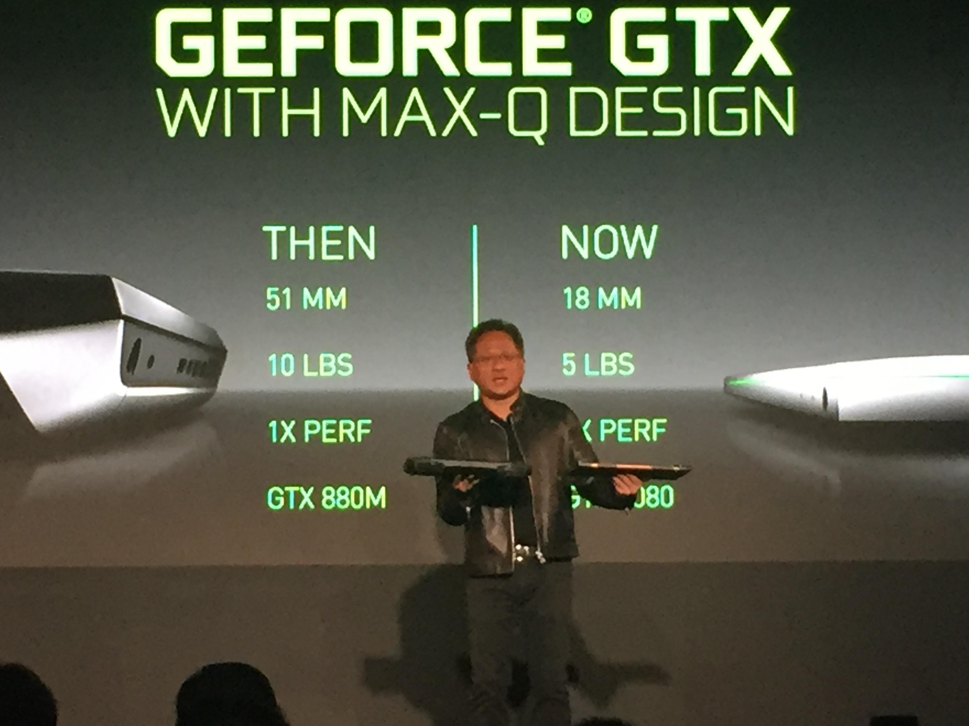 NVIDIA Announces Max-Q Gaming Standard of Laptop Design @ Computex 2017