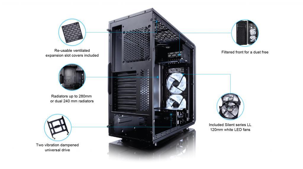 Fractal Design Announces the New Focus G Series Computer Case computer case, Fractal, fractal design 2