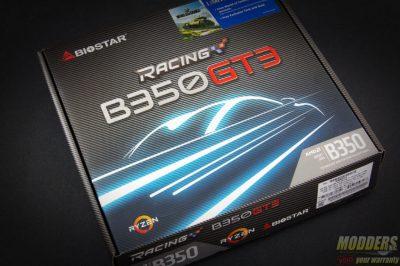 Biostar Racing B350GT3 AM4 Motherboard Box Rear