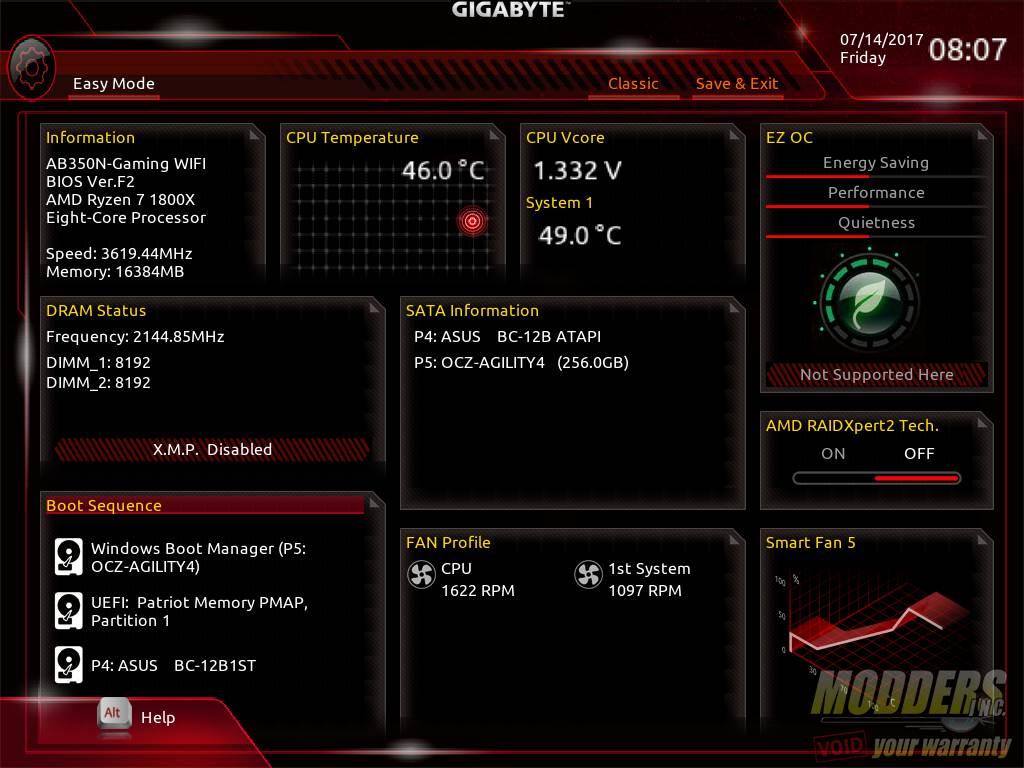 Gigabyte AB350N-Gaming WIFI AM4 Motherboard Review B350, Gigabyte, Mini-ITX 14