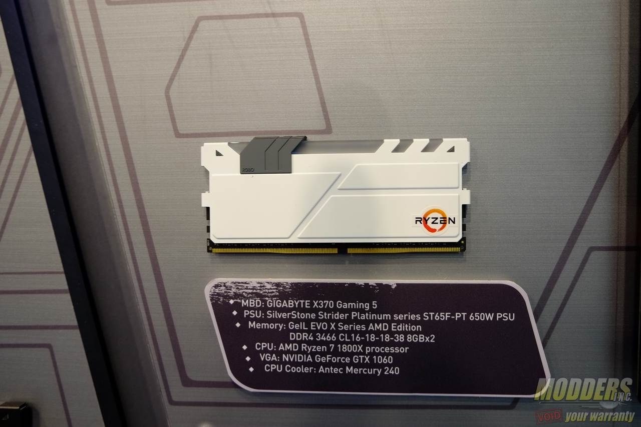 GeIL Shows Off Entire Line of Ryzen Ready DDR4 Memory