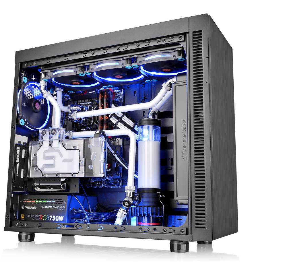 Thermaltake Updates Core V71, V51 and Suppressor F51 with Tempered Glass Chassis, tempered glass, Thermaltake 1