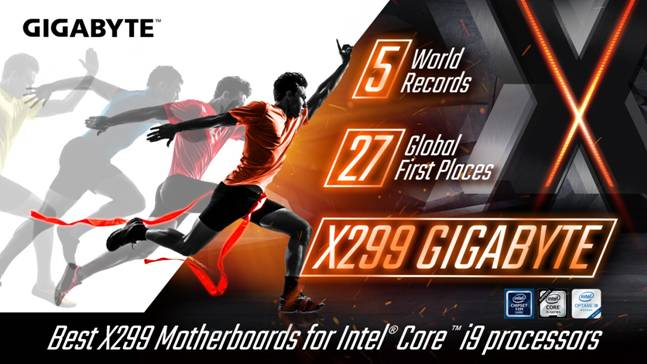 Photo of Gigabyte X299 Motherboards Now Hold 5 World OC Records