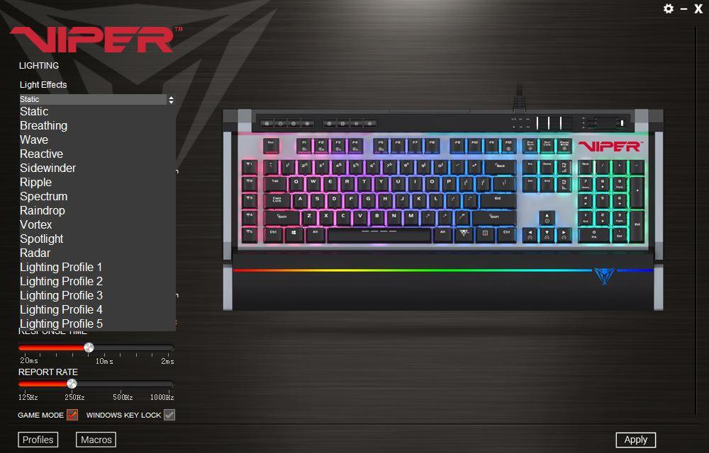 Patriot Viper V770 RGB Mechanical Keyboard Review — Page 3