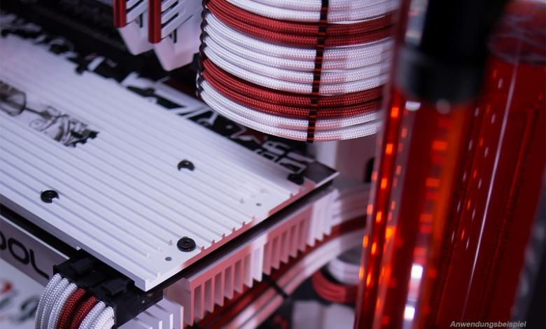 Photo of Alphacool AlphaCord Sleeves and Eiskamm Alu Cable Combs Now Available