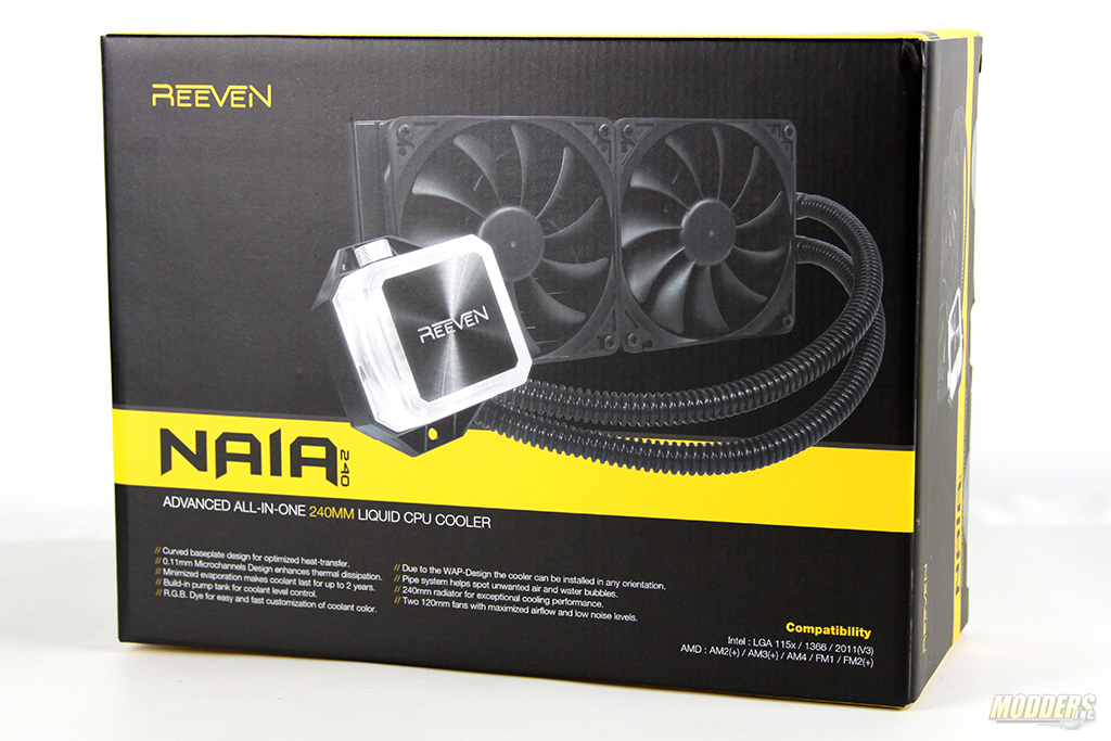 Reeven Naia 240 AIO Cooler Review — Modders-Inc