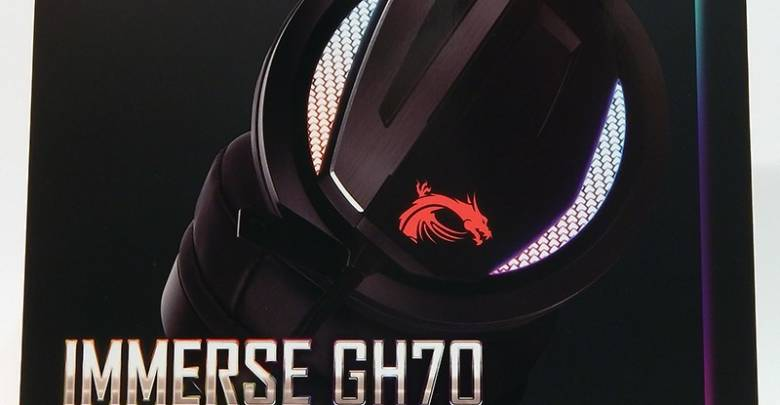 MSI GH70 Gaming Headset Box Front