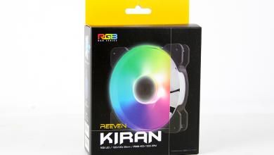 Photo of Reeven Kiran RGB 120mm Fan Overview