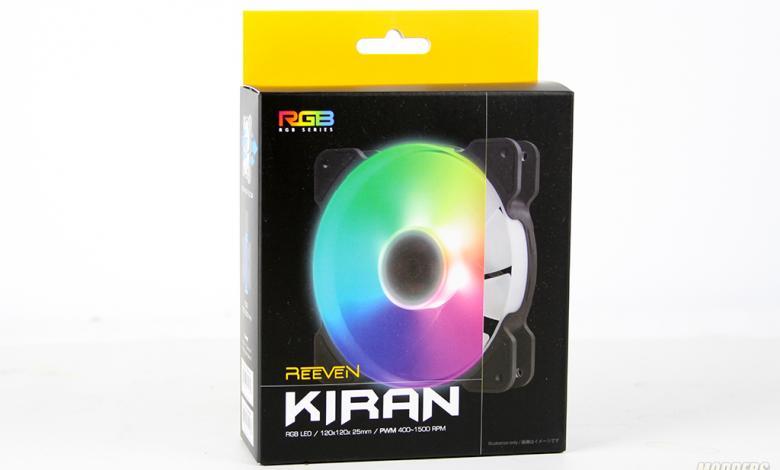Photo of Reeven Kiran RGB 120mm Fan Overview