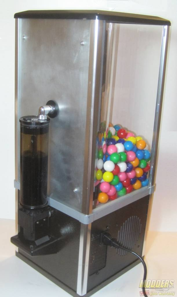Gumball Case – Part 3 - Acrylic to Aluminum in Two Easy Steps back of gumball machine 1